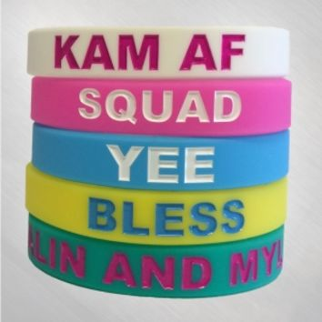 Kalin and Myles - New 5 Piece Wristband Set [KAMJ4030]: Now Just $5.00