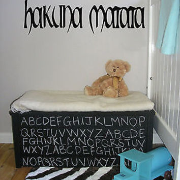 Hakuna Matata Words Decor Wall Mural Vinyl Decal Sticker AL555