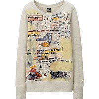 WOMEN SPRZ NY L/S SWEAT PULLOVER (JEAN-MICHEL BASQUIAT) | UNIQLO
