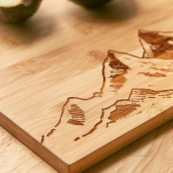 Bamboo Mountain Cutting Board - Urban Outfitters