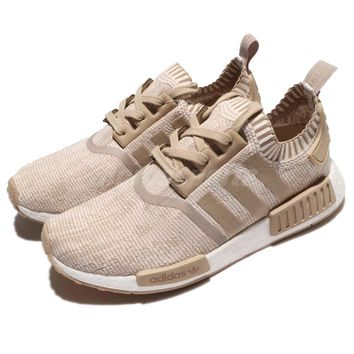 adidas Originals NMD_R1 PK PrimeKnit Khaki White Men Running Shoes BY1912