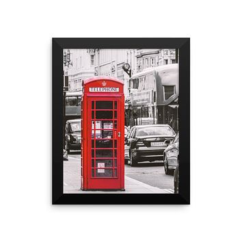 London Phone Booth Photo Framed poster