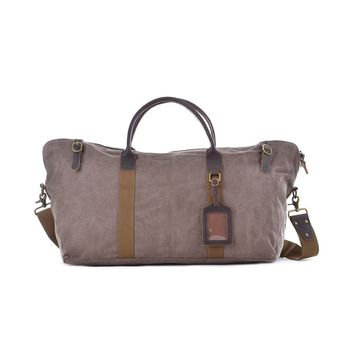 #60615 Waxed Canvas Duffle Bag