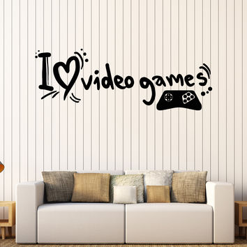 Vinyl Wall Decal Video Game Gamer Teen Room Gaming Quote Stickers Unique Gift (343ig)