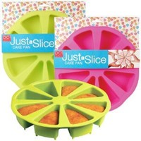 DCI Just a Slice Silicone Cake Pan, Pink or Green