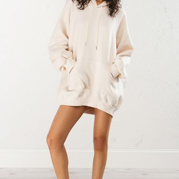 Hoodie Dress in Nude