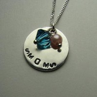Custom Stamped Personalized Necklace in Sterling by SNstudio