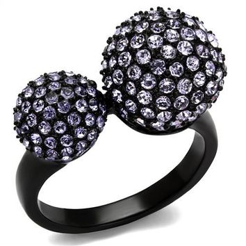 Big and Little Purple Balls Ring