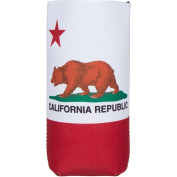 California Republic Bear Flag Tall Can Cooler
