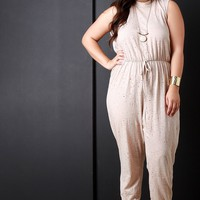 Plus Size Sleeveless Jumpsuit