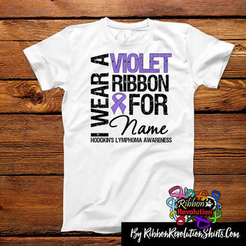 Hodgkins Lymphoma I Wear a Violet Ribbon Shirts