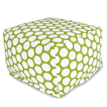 Hot Green Large Polka Dot Large Ottoman