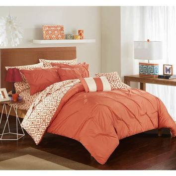 Strick & Bolton Josephine 10-piece Brick Bed in a Bag Comforter Set | Overstock.com Shopping - The Best Deals on Bed-in-a-Bag