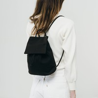 Canvas Mini Backpack | Black