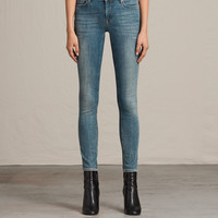 ALLSAINTS UK: Womens Mast Jeans (Washed Indigo)