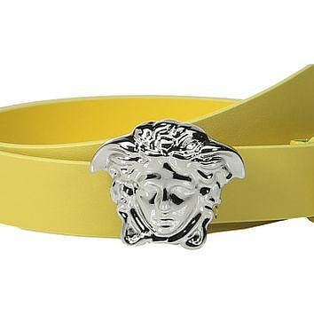 Versace Kids Leather Belt with Medusa Buckle (Big Kids)