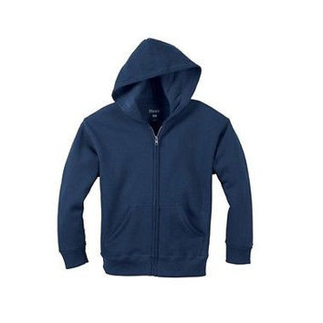 Hanes Boys' EcoSmart Solid Fleece Full Zip Hoodie, XL, Navy