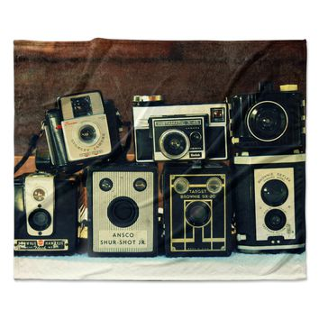 "Robin Dickinson ""Through the Years"" Vintage Camera Fleece Throw Blanket"