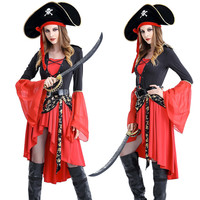 Sexy Pirate Costume Halloween Carnival Fantasia Caribbean Pirate