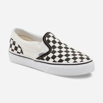 DCCKIJG VANS Checkerboard Classic Kids Slip-On Shoes | Sneakers