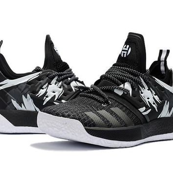 Adidas Harden Vol. 2 Black White Graffiti Basketball Shoes US7-1 517b61bb37