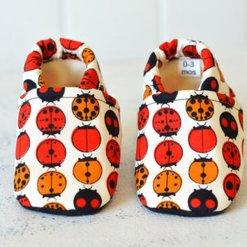 "Organic ""Ladybug"" Shoes - NB to 4T"