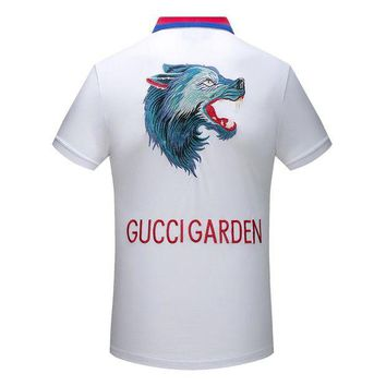LMF3HD Gucci Women or Men Fashion Casual Letter Pattern Embroidery Shirt Top Tee