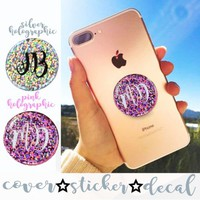 Holographic glitter Personalised Sparkle DECAL/STICKER ONLY for selfie HOLDER | eBay