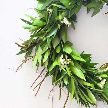 St. Francis Laurel Bay Wreath