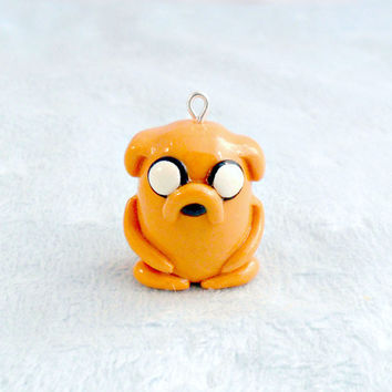 Jake Chibi Adventure Time Charm D by aLilBitOfCute on Etsy