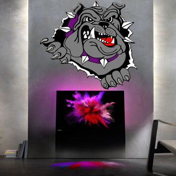 Full color English Bulldog sticker, English Bulldog decal, wall art decal vmc 30