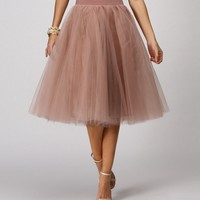 Dark Mauve Tulle Darling Party Skirt