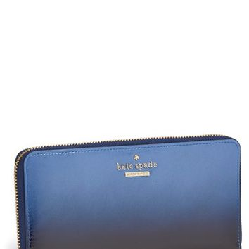Women's kate spade new york 'cedar street - ombre patent lacey' leather clutch wallet