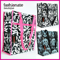 Damask Tote Bag Diaper Overnight Carry On Shopping Shoulder Purse Travel GYM HOT