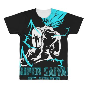 Super Saiyan God Vegeta All Over Men's T-shirt