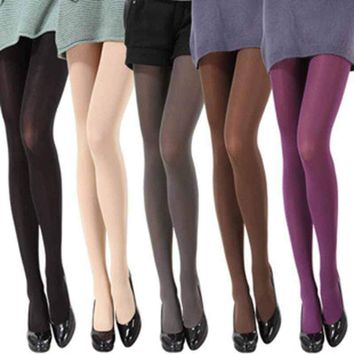 Opaque Footed Tights Sexy Women's Girls Pantyhose Stockings Socks Colours