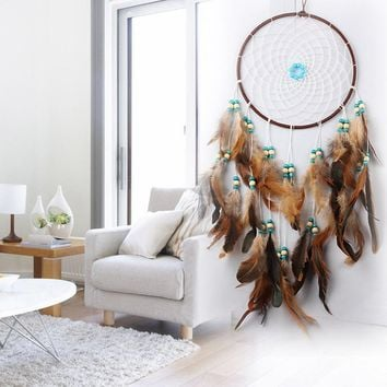 60 cm Car Hanging Pendant Wind Chimes Feathers Dream Catcher Indian Style Dreamcatcher Home Wall Decor