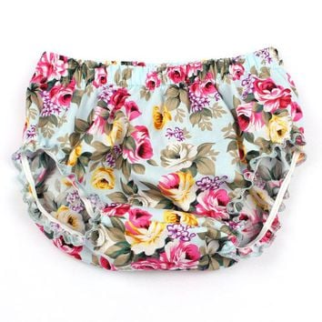 Hot Shorts Toddler Infant Baby Summer Floral Cotton Bloomers Little Girl PP  Newborn Beach Panties Baby ClothingAT_43_3