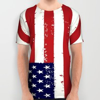 american flag all over print All Over Print Shirt by Designbook