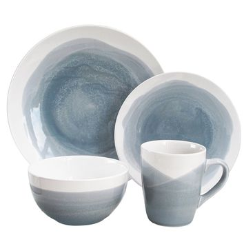 Valia 16 Piece Dinnerware Set, Service for 4