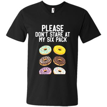 Please Don't Stare Donuts Abs Six Pack Funny Workout Shirt