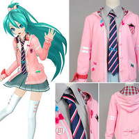 "Vocaloid Miku Hatsune ""Project DIVA-f"" Costume Dress, Miku Dress"