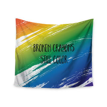 "NL designs ""Broken Crayons"" Blue Abstract Wall Tapestry"