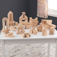 KidKraft 60-pc. Wooden Block Set (Brown)