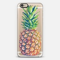 Single Watercolor Pineapple iPhone 6 case by Jande La'ulu | Casetify
