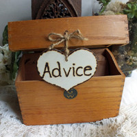Wedding Advice Card Box Vintage Recipe Box by ButterBeanVintage