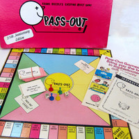 Vintage 1970s PASS OUT drinking board game / adult party game