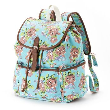 Candie's Floral Backpack (Green)