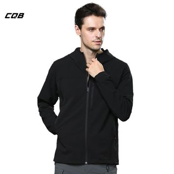 CQB Outdoor Sports Camping Hiking Tactical Men's Softshell Jacket Water Repellent Hunting Clothes Leisure High Elastic Thin Coat