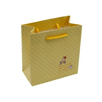 Polka Dot Printed Medium Paper Bag